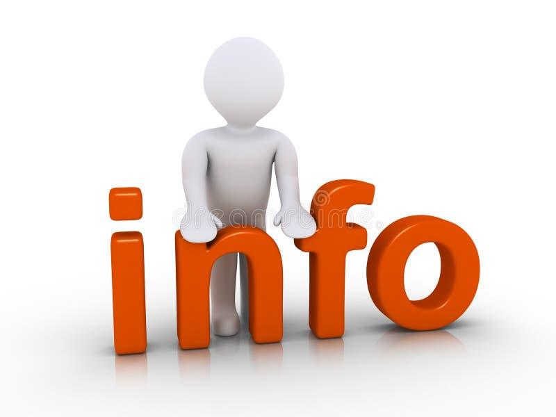 Download Osoba providing informację ilustracji. Obraz złożonej z miejsce - 30424651