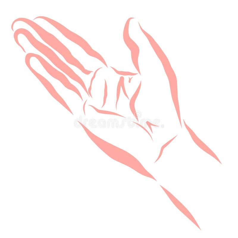 Osoba pyta dla pomocy przedłużyć rękę lub wyjaśnia coś, ilustracji