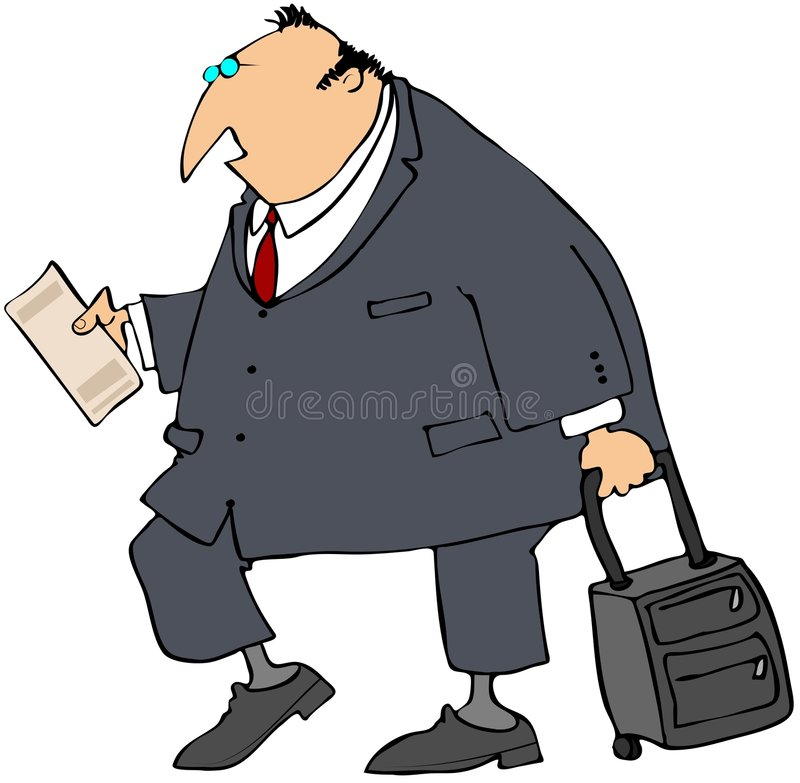 osoba w podróży służbowej ilustracji