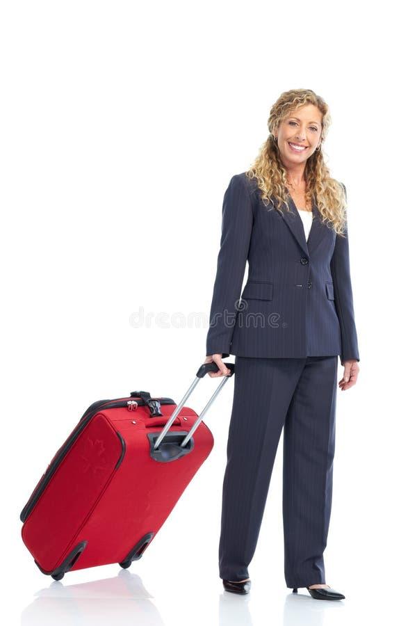 osoba w podróży służbowej kobieta zdjęcia stock