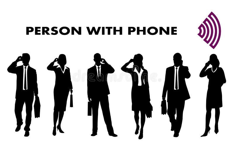 Download Osoba z telefon komórkowy ilustracja wektor. Ilustracja złożonej z kierownik - 28967019