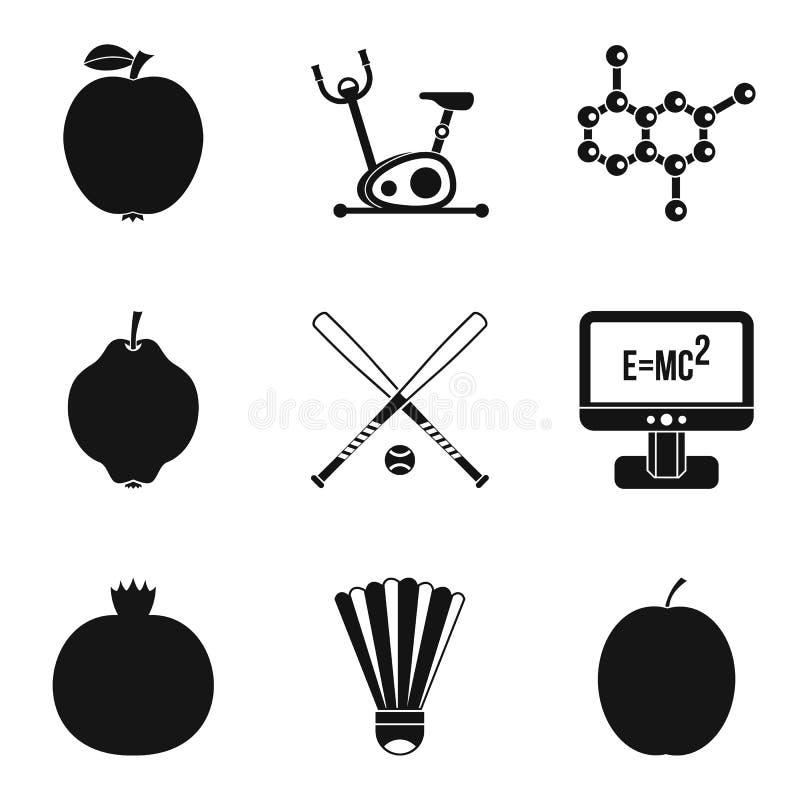 Osobiście ikony ustawiać, prosty styl ilustracja wektor