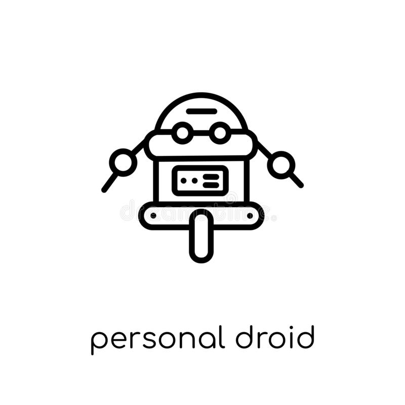 Osobista droid ikona  ilustracji