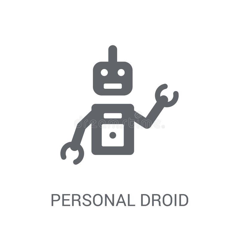 Osobista droid ikona  royalty ilustracja