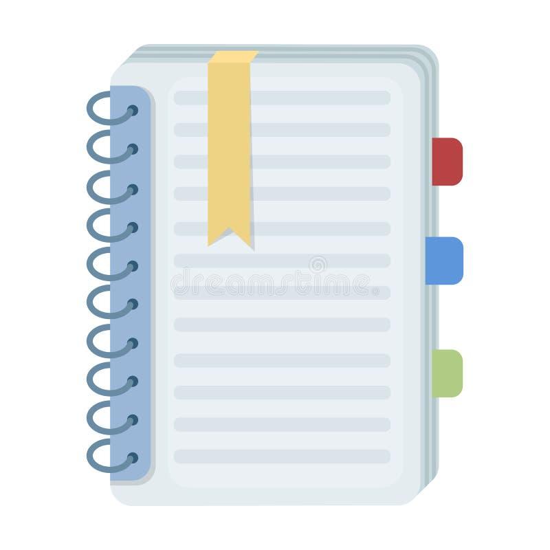 Osobista słownik ikona w kreskówka stylu odizolowywającym na białym tle Tłumacza i tłumacza symbolu zapasu wektor ilustracji
