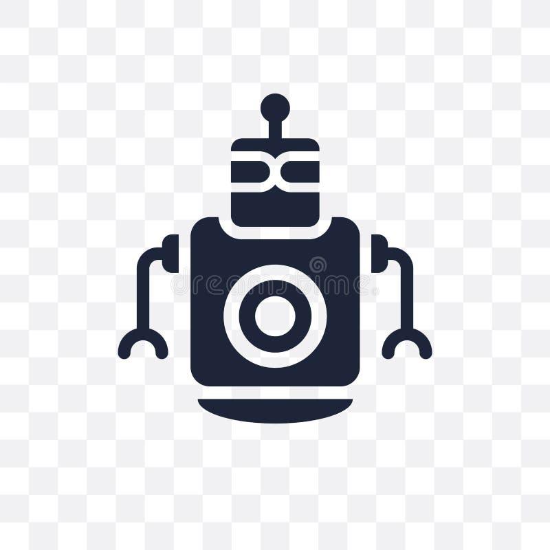 Osobistego droid przejrzysta ikona Osobisty droid symbolu projekt fr royalty ilustracja