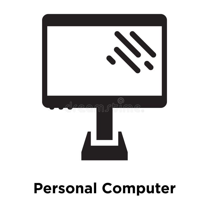 Osobistego komputeru ikony wektor odizolowywający na białym tle, logo ilustracja wektor