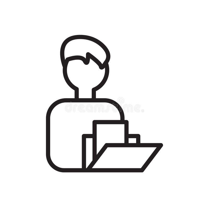 Osobistego profilu ikony wektor odizolowywający na białym tle, Osobistego profilu znak ilustracja wektor