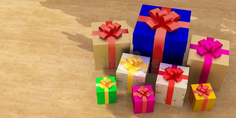 Osobistość prezenta pudełko ilustracja wektor