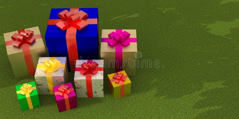 Osobistość prezenta pudełko ilustracji