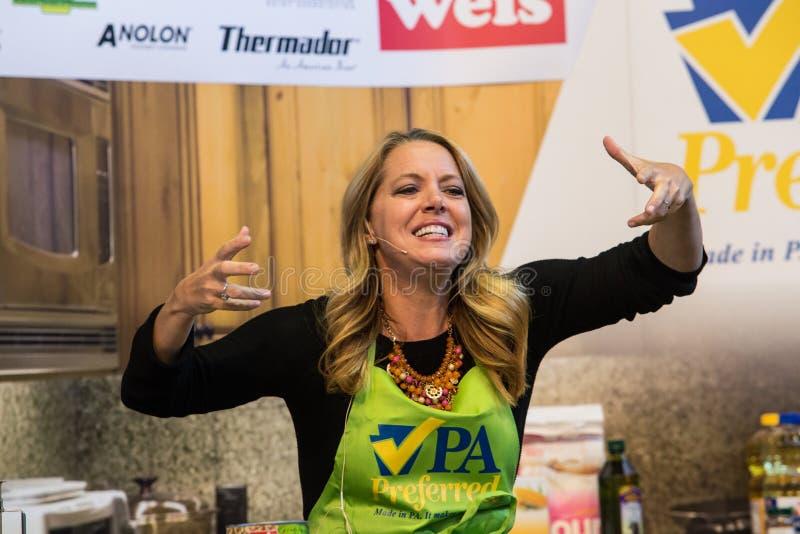 Osobistość szef kuchni Melissa dArabian zdjęcia royalty free