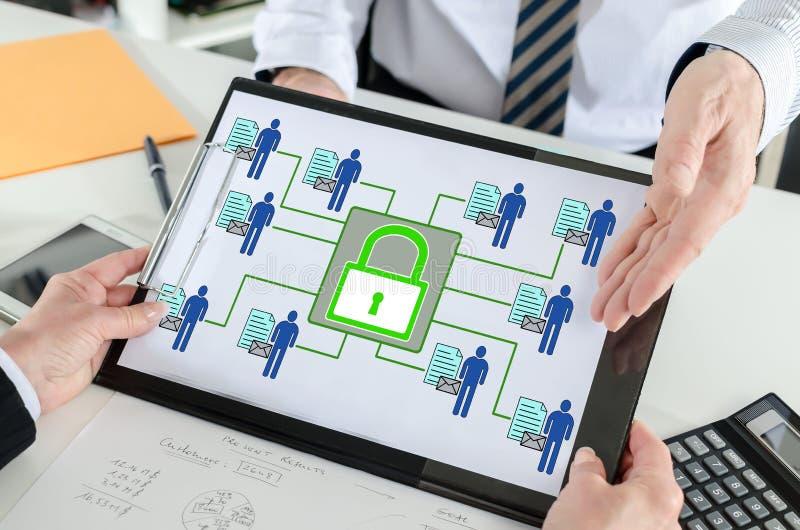 Osobisty dane ochrony pojęcie na schowku zdjęcie stock