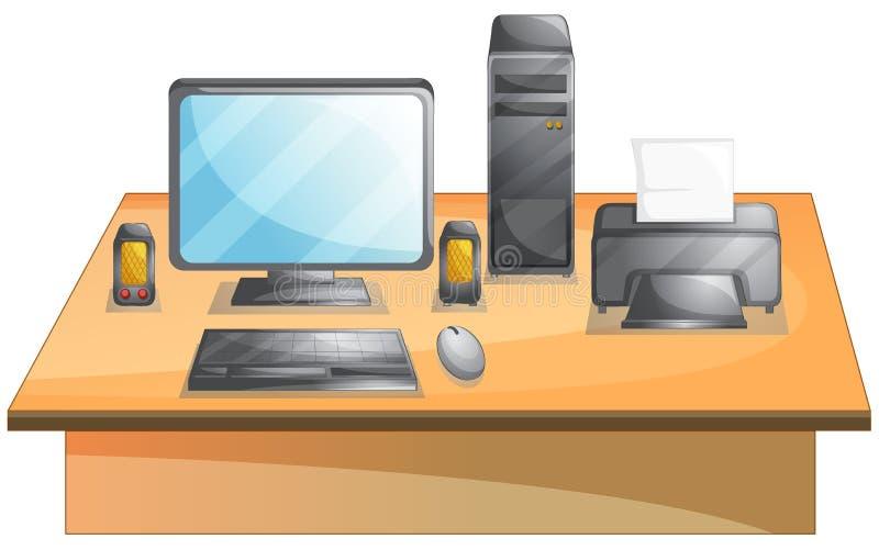 Osobisty komputer ilustracja wektor