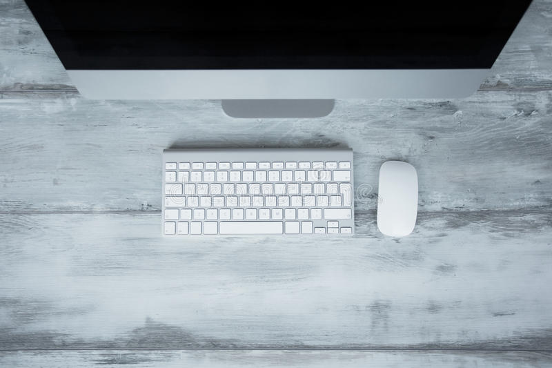 Osobisty komputer, klawiatura, mysz royalty ilustracja