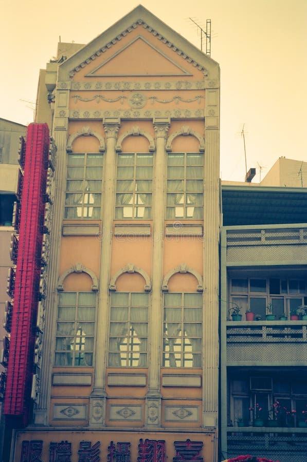 Osobliwie stary budynek w Tainan mieście, Tajwan obraz stock