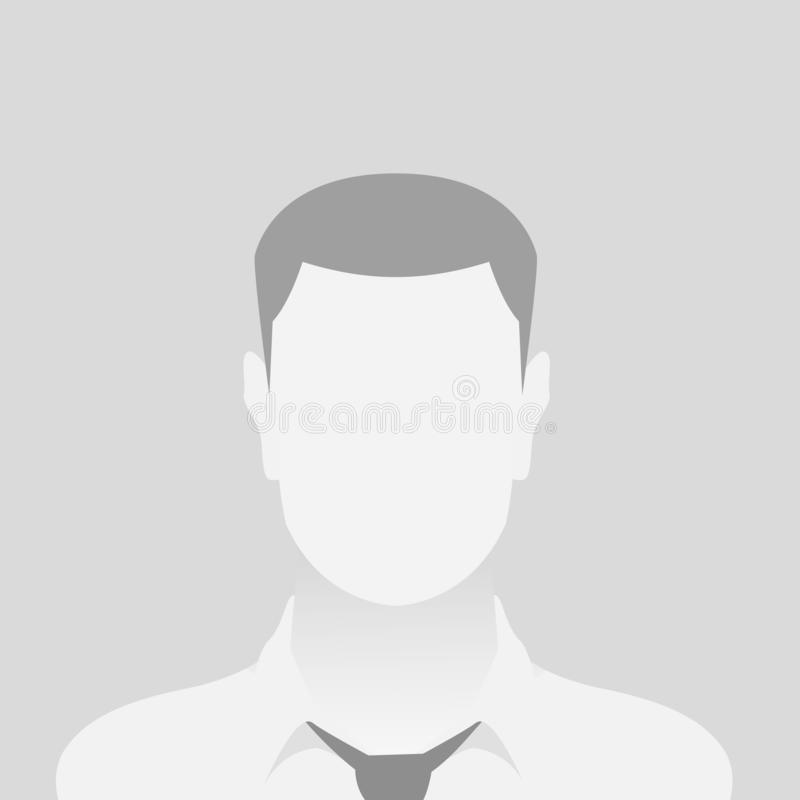 Osoby fotografii placeholder szary mężczyzna royalty ilustracja
