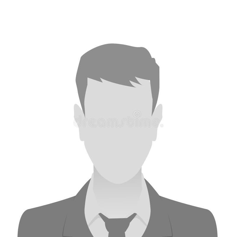 Osoby fotografii placeholder szary mężczyzna ilustracja wektor