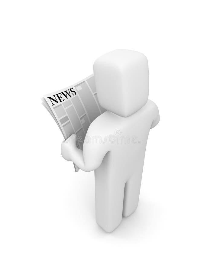 osoby gazetowy read royalty ilustracja