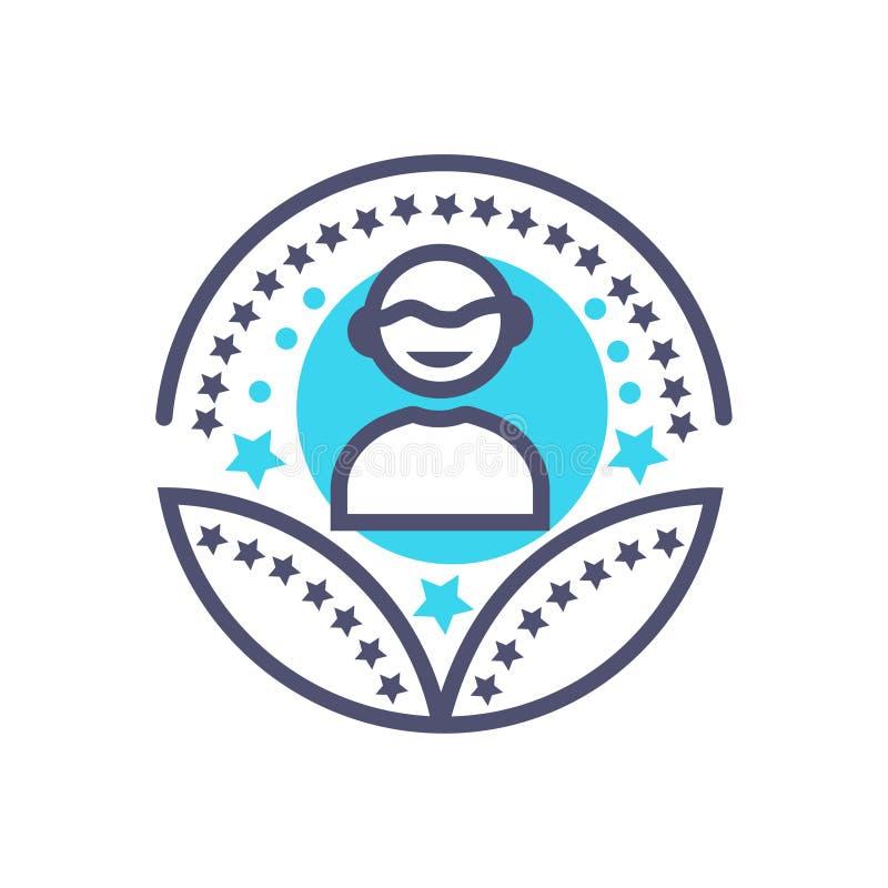 Osoby lub m??czyzny nagrody ikony u?ytkownika nagrody wektorowy znak royalty ilustracja