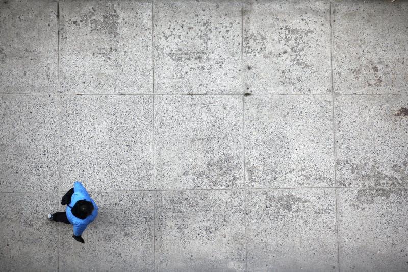 osoby odgórnego widok odprowadzenie zdjęcie stock