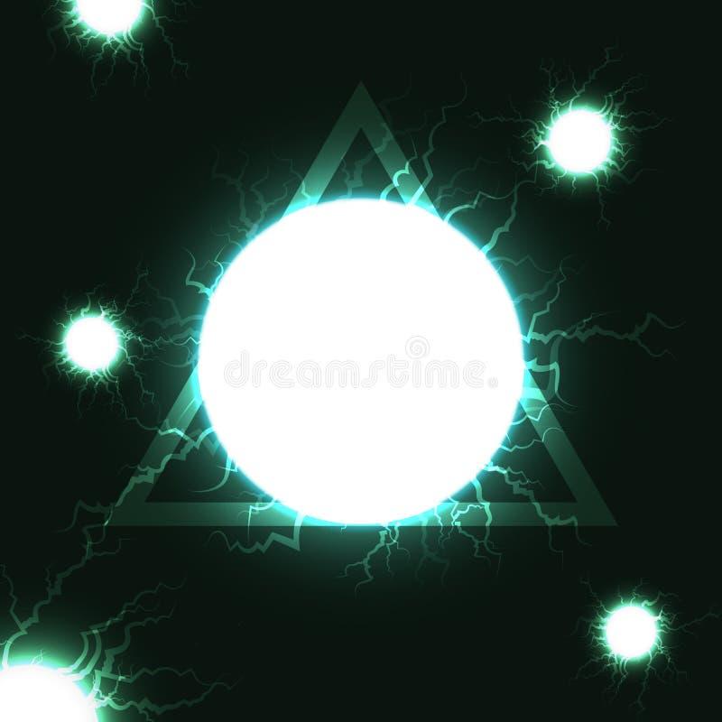 Osocze energetyczny balowy syndykat z trójbok technologii cyfrowej futu ilustracja wektor