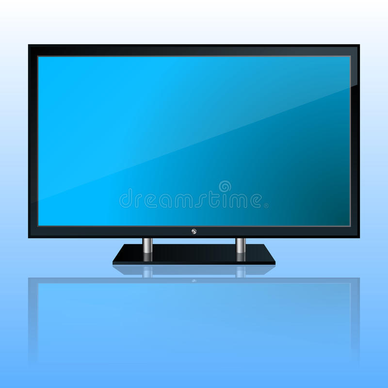 osocze ustalony tv royalty ilustracja