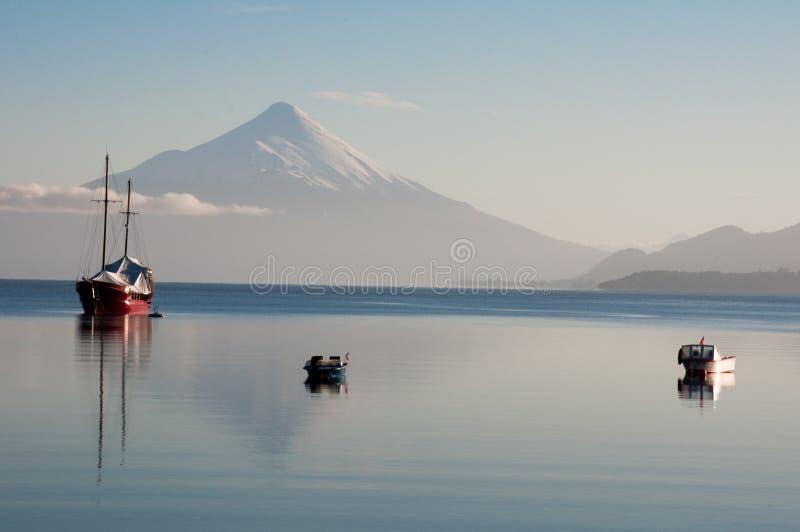 osorno火山 免版税库存图片