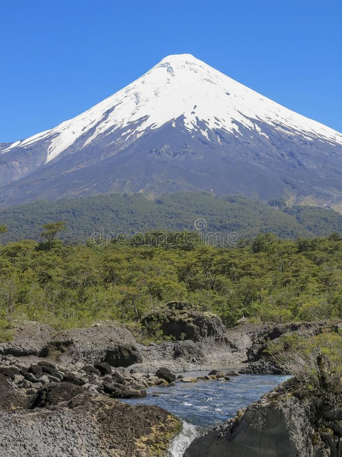Osorno vulcan, chile imagenes de archivo