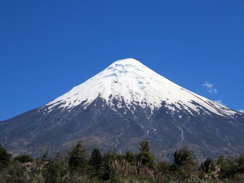 Osorno vulcan, chile foto de archivo