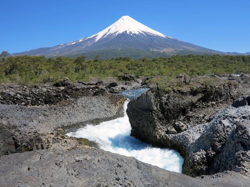 Osorno vulcan, pimentão foto de stock royalty free