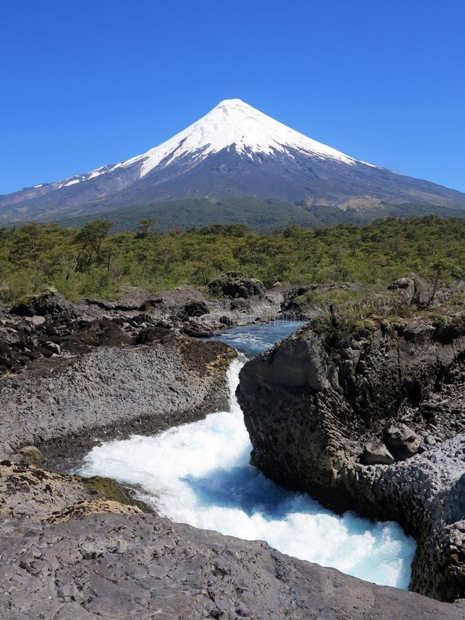 Osorno vulcan, piment image libre de droits