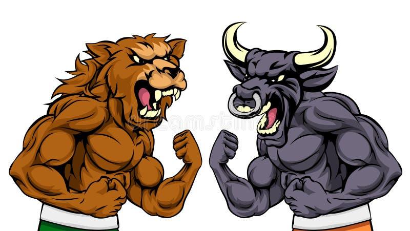 Osos contra concepto del mercado de acción de los toros libre illustration