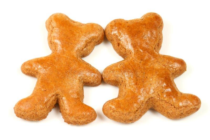 Osos de las galletas del pan de jengibre foto de archivo libre de regalías
