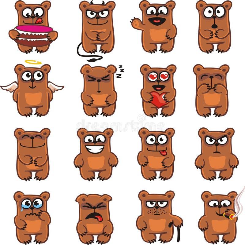 Osos divertidos (1) ilustración del vector