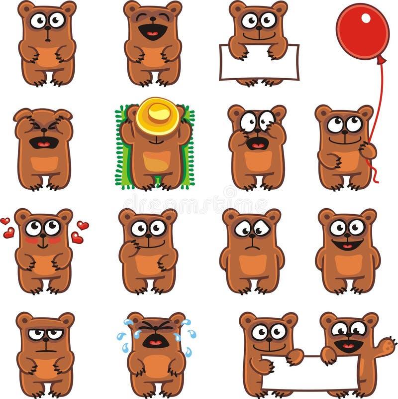 Osos divertidos (2) ilustración del vector
