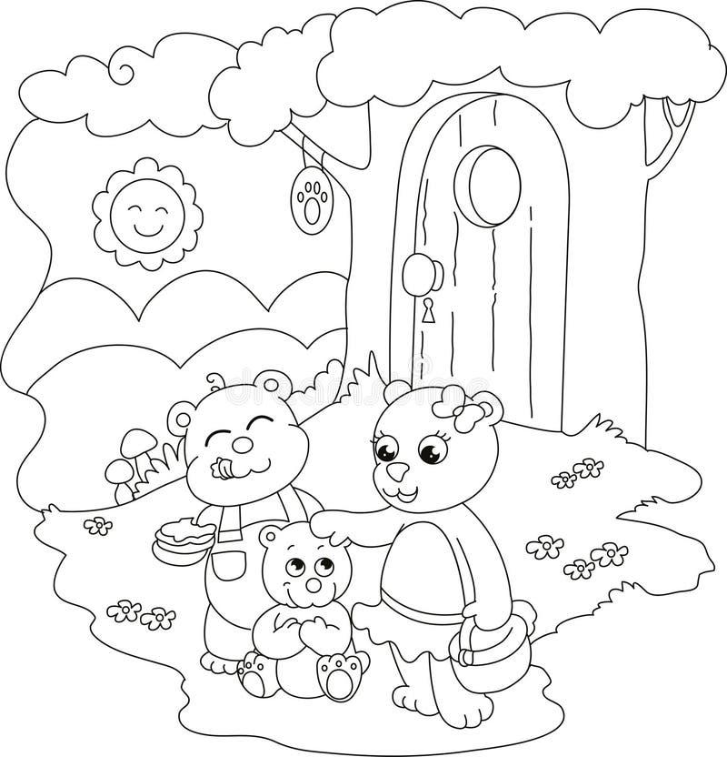 Osos lindos del colorante libre illustration