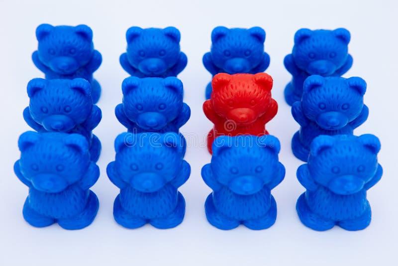 Osos plásticos del juguete imagen de archivo