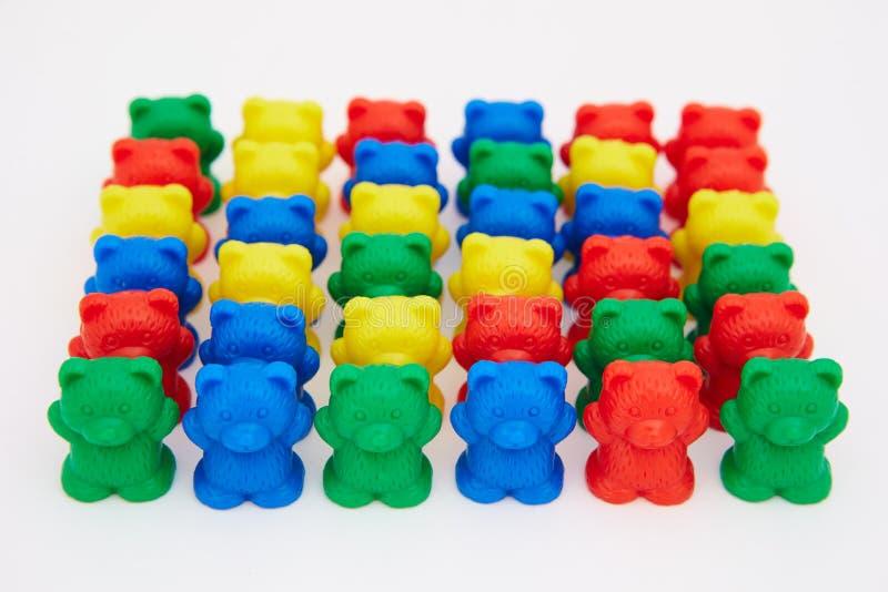 Osos plásticos del juguete imágenes de archivo libres de regalías