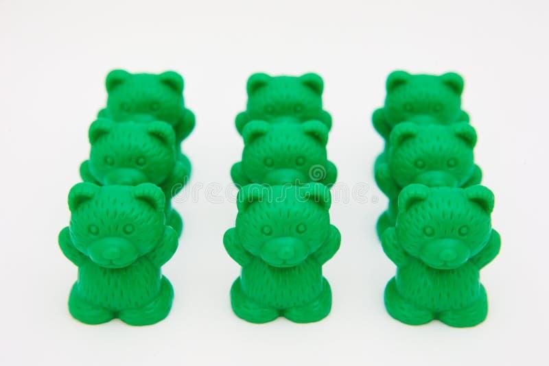 Osos plásticos del juguete foto de archivo