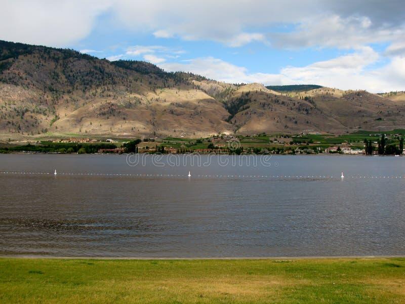 Osoyoos jezioro w gorącym letnim dniu, kolumbiowie brytyjska, Canad obrazy royalty free