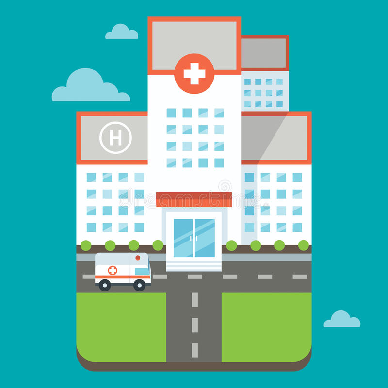 Ospedale royalty illustrazione gratis