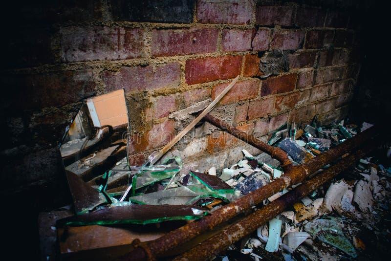 Ospedale abbandonato trascurato immagine stock libera da diritti