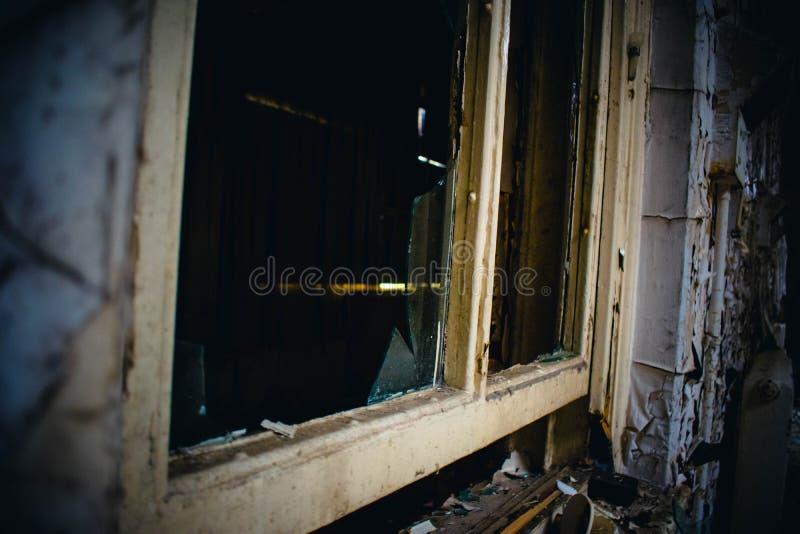 Ospedale abbandonato trascurato immagine stock