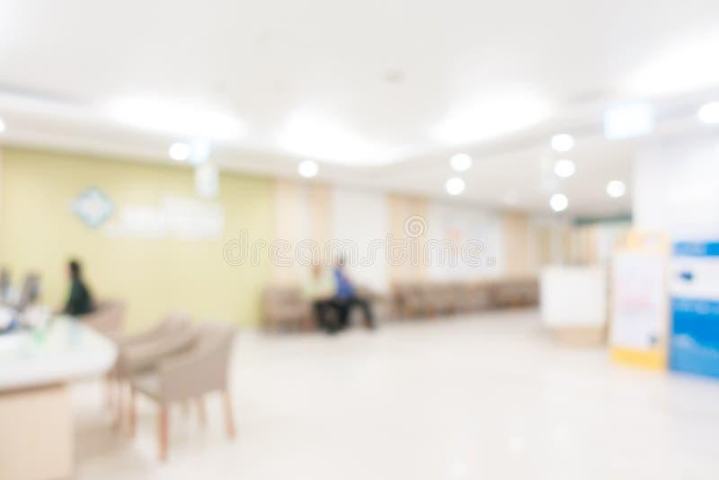Ospedale astratto della sfuocatura immagine stock libera da diritti