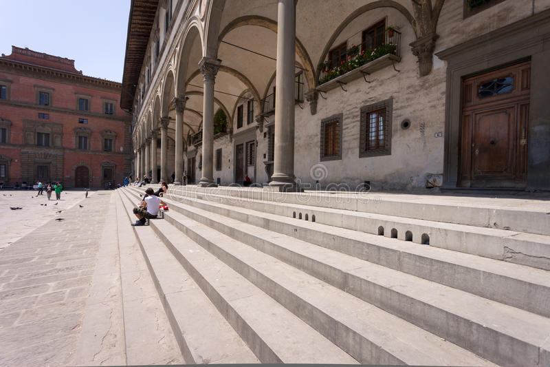 Ospedale degli Innocenti Florence arkivbilder