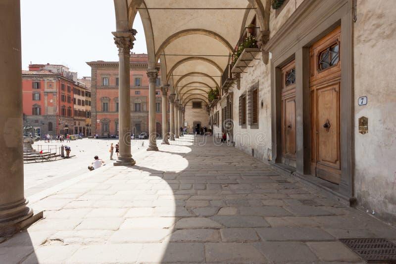 Ospedale degli Innocenti i Florence royaltyfri fotografi