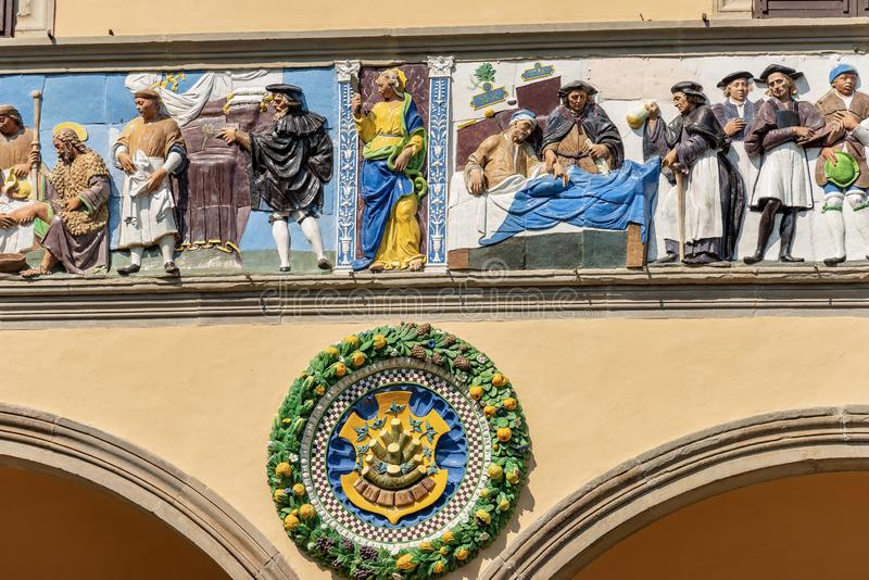 Ospedale del Ceppo ? Pistoie Toscane Italie images stock