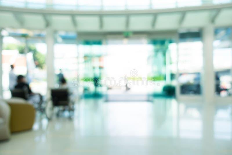 Ospedale della sfuocatura ed interno astratti della clinica fotografie stock libere da diritti