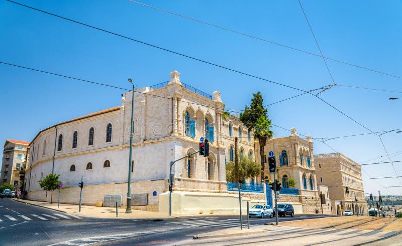 Ospedale francese di St Louis a Gerusalemme, Israele fotografie stock libere da diritti