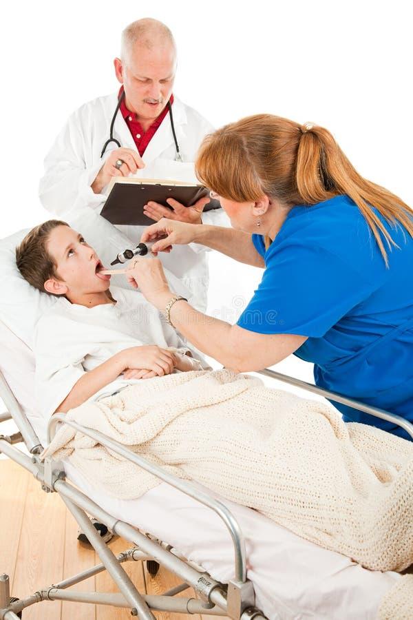 Ospedale pediatrico - dica Ahhh fotografia stock libera da diritti